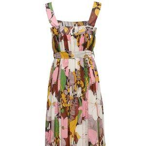 La DoubleJ Mimosa Floral Midi Dress M